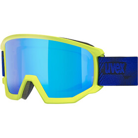 UVEX Athletic CV Goggles, lime mat/colorvision blue fire